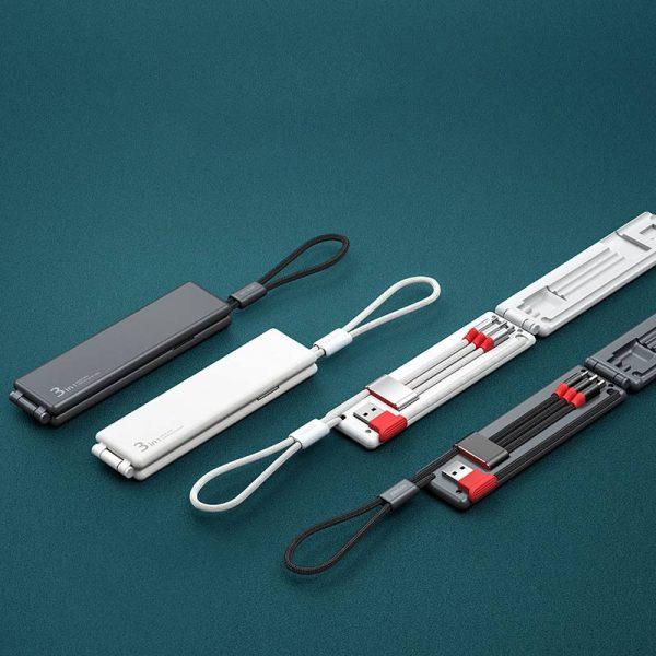 کابل شارژ سه کاره OATSBASF Magic Box
